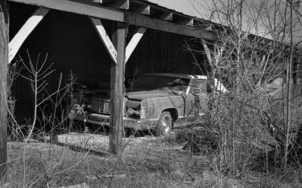 Abandoned Car - Lincoln Continental - bw400cn - Rural West TN
