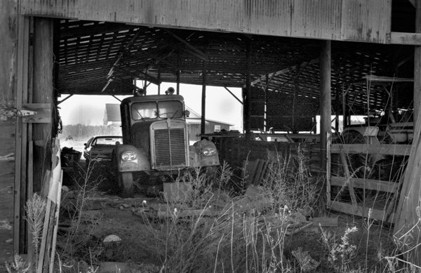 Old Truck in an Older Barn