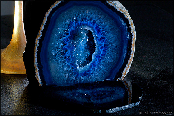 Blue Geode (Colorful Rock)