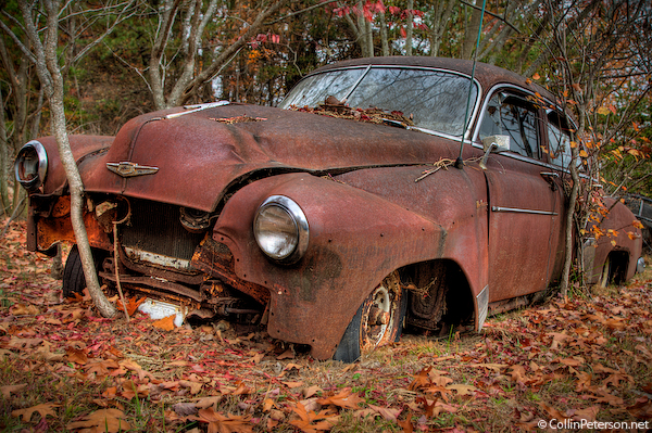 Abandoned Car Near Fall Creek Falls